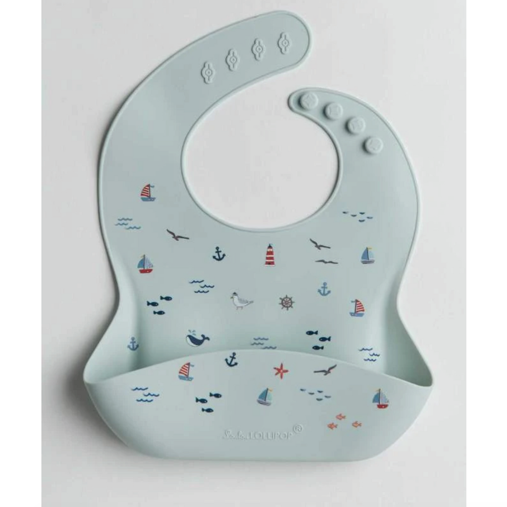 Silicone Bib - Set Sail by Loulou Lollipop