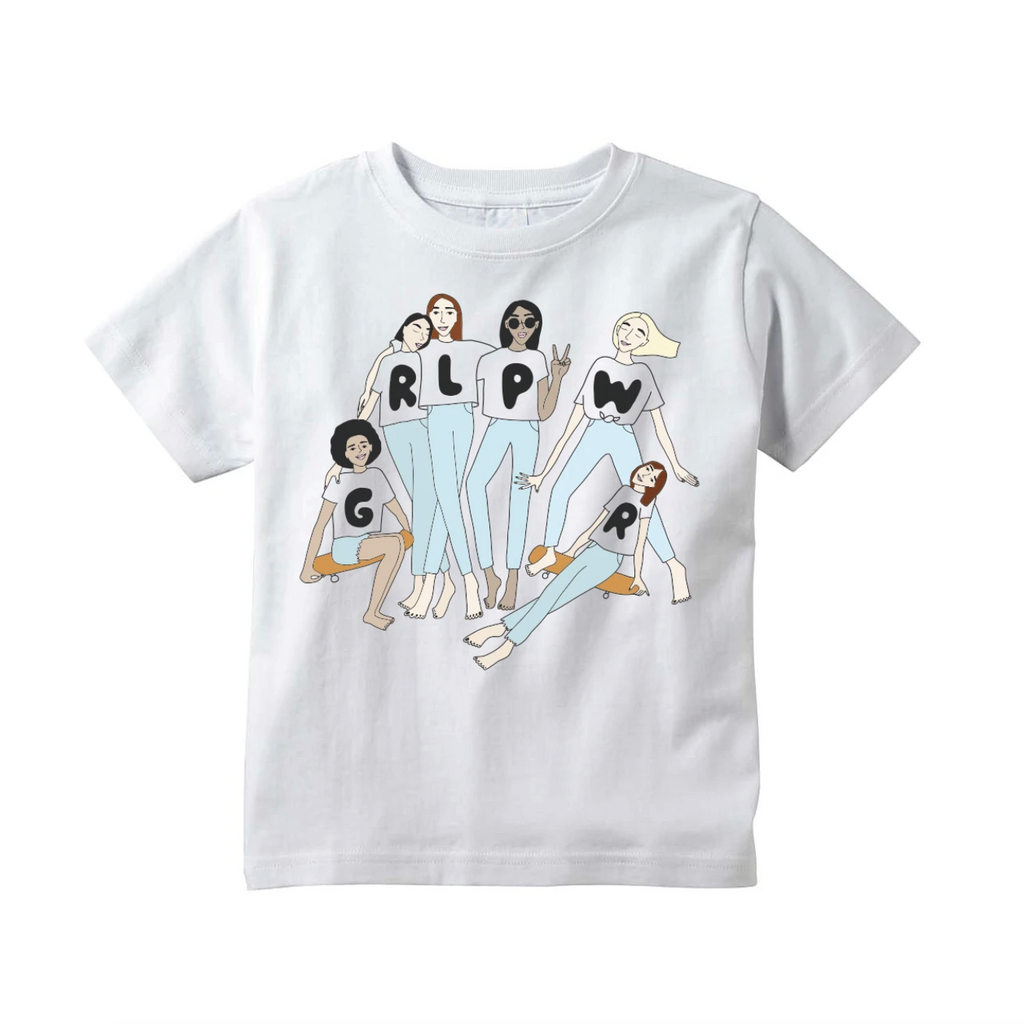 Grl Pwr Group Tee - White by Youths