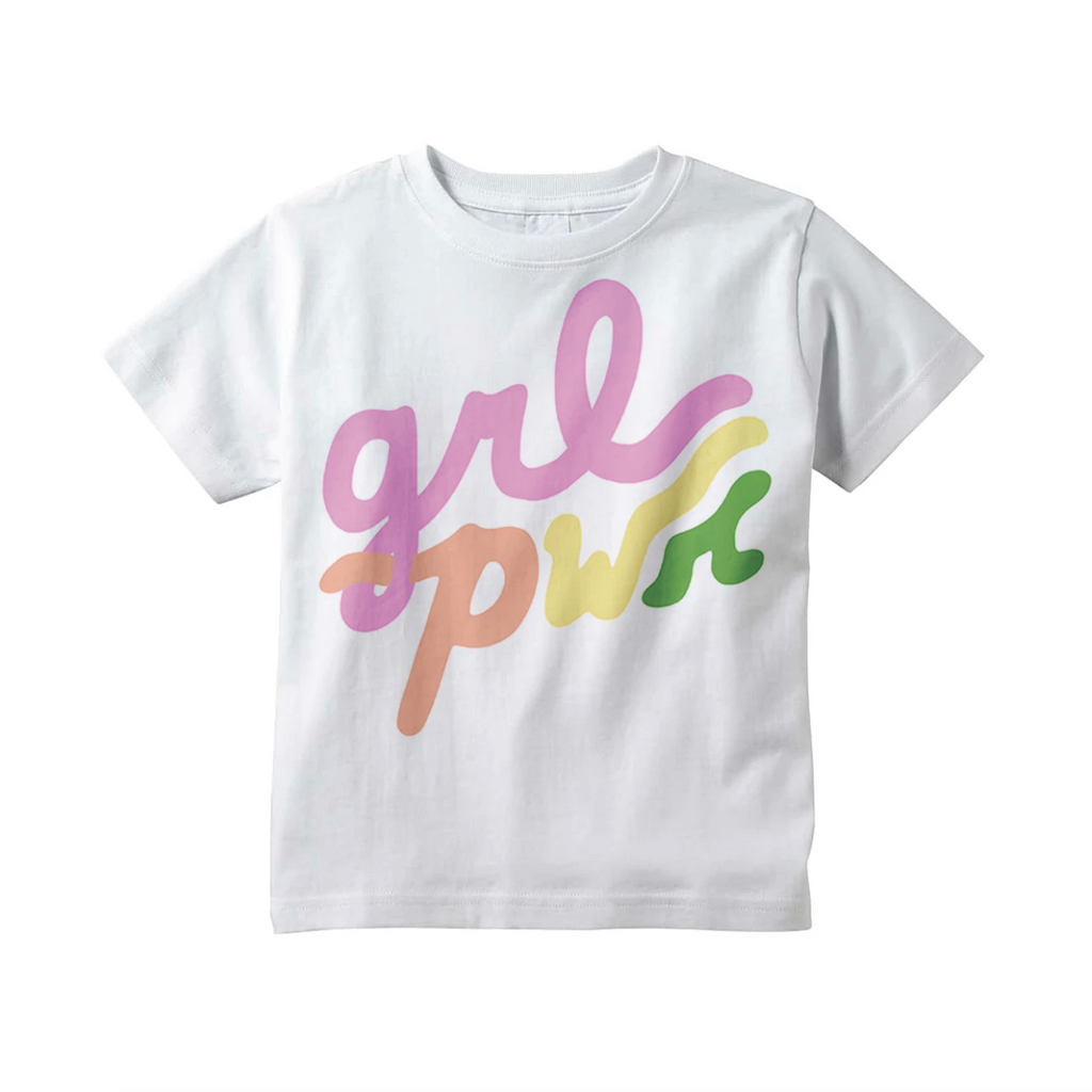 Grl Pwr Rainbow Tee - White by Youths