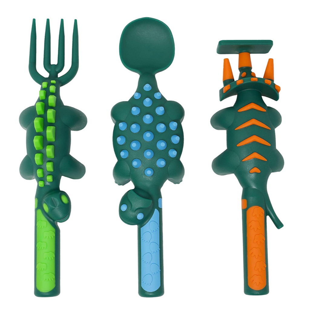 Dino Eating Utensils - Set of 3