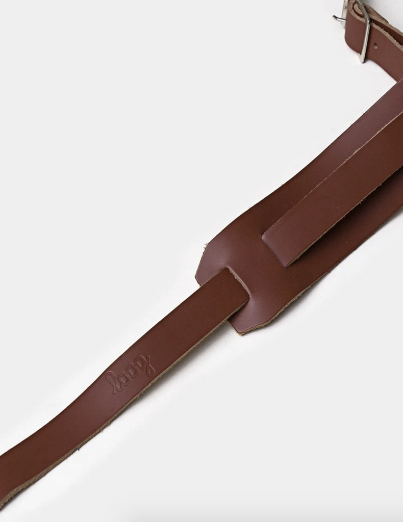 Leather Slim Guitar Strap by Loog