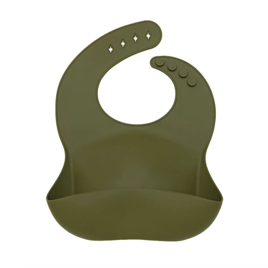 Silicone Solid Bib - Avocado by Loulou Lollipop