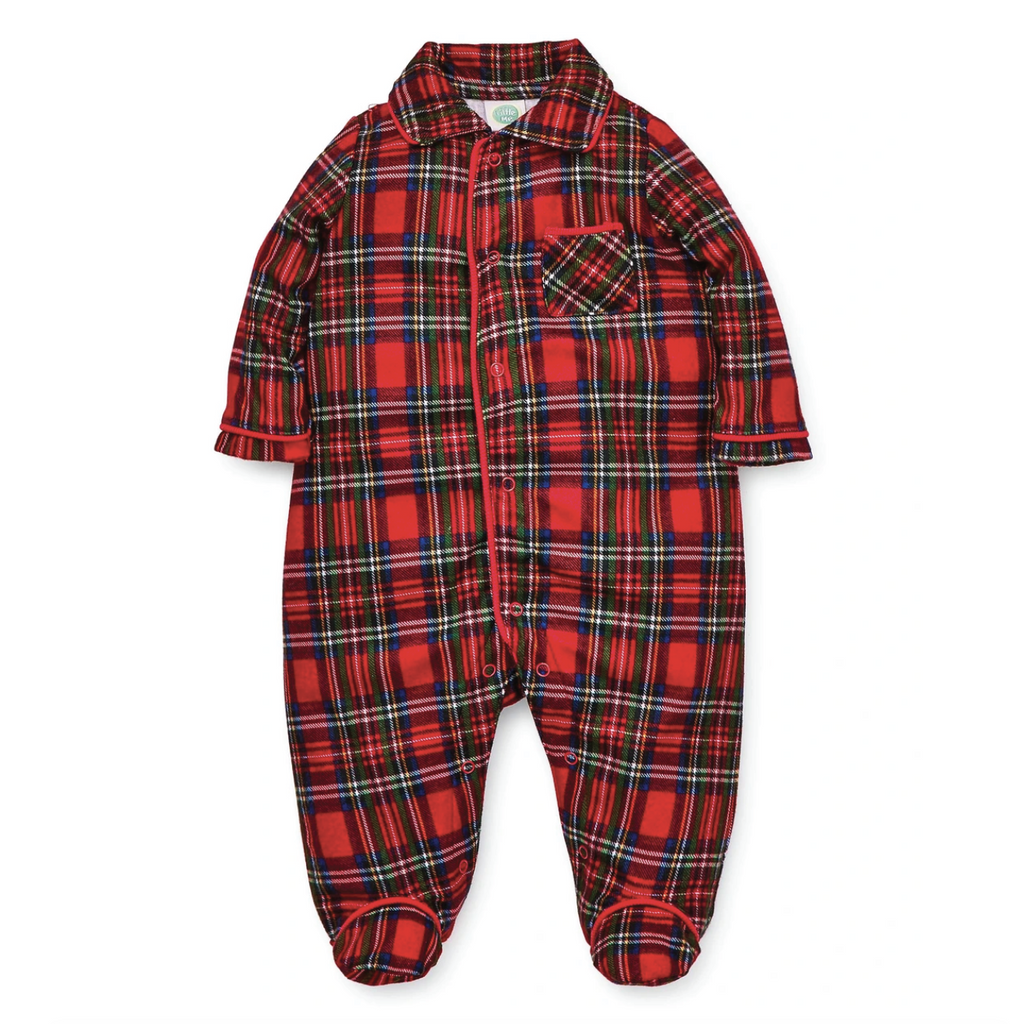 Holiday Plaid Footie by Little Me