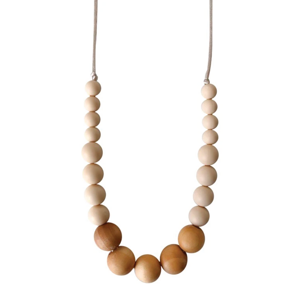 Landon Teething Necklace - Cream by Chewable Charm