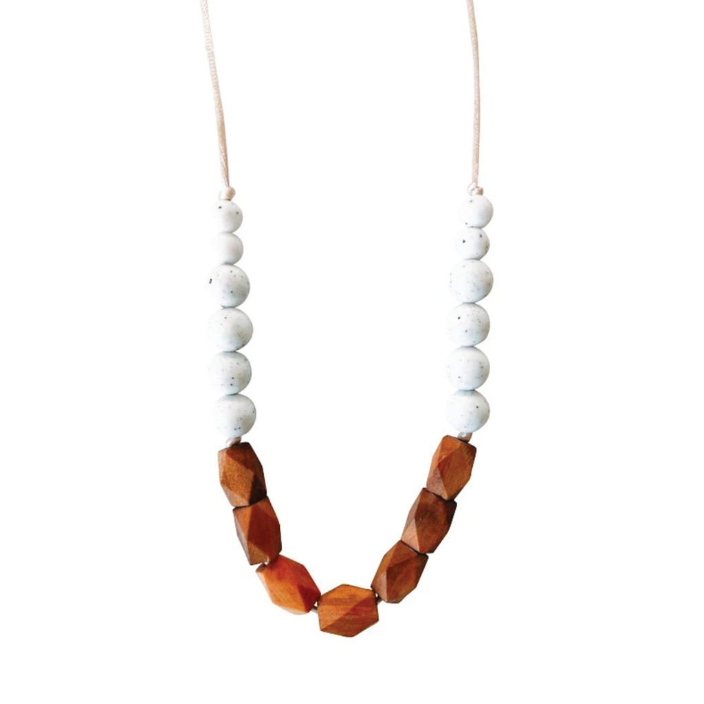 Harrison Teething Necklace - Moonstone by Chewable Charm