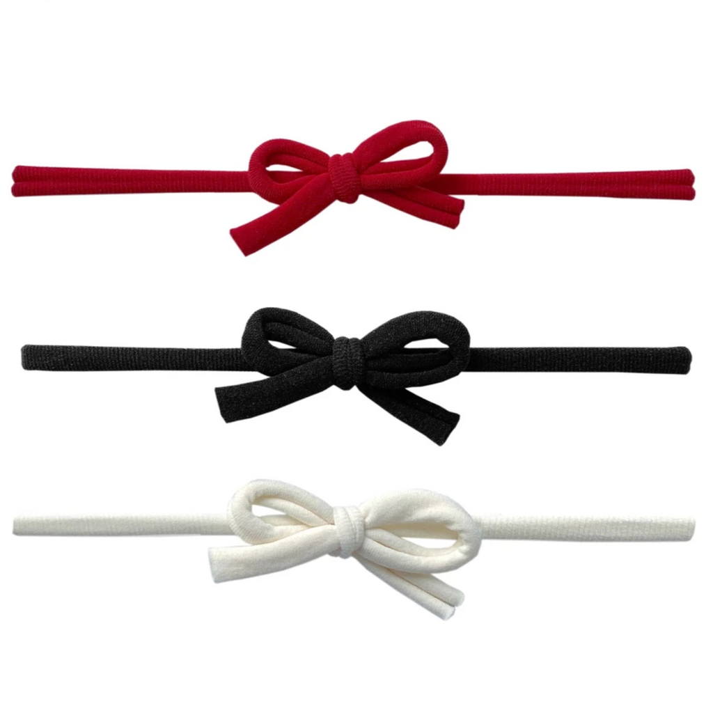 3-Pack Skinnies Headband - Cherry/Black/Ivory by Baby Bling