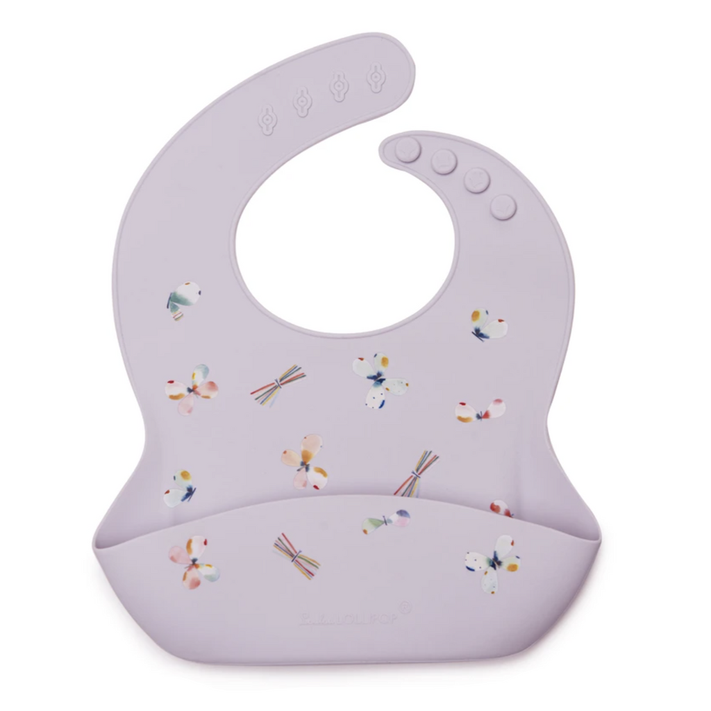Silicone Bib - Butterfly by  Loulou Lollipop