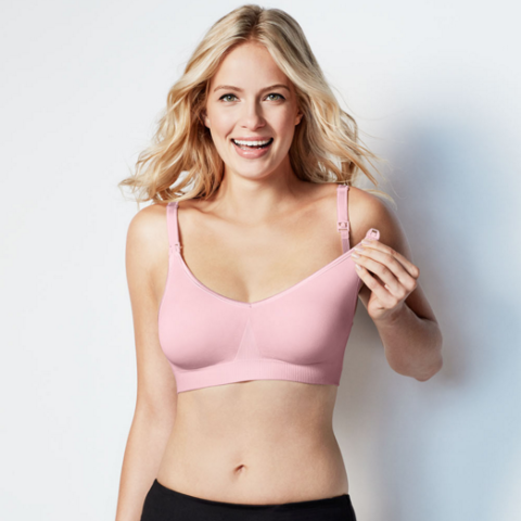 Bravado Body Silk Seamless Nursing Bra - Pink Ice - Pacifier