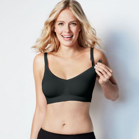 Bravado Body Silk Seamless Nursing Bra - Black - Pacifier