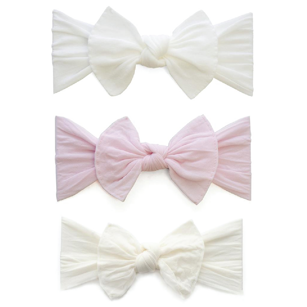 Knot Headband 3 Pack - Pink + Ivory + White by Baby Bling Baby Bling Accessories
