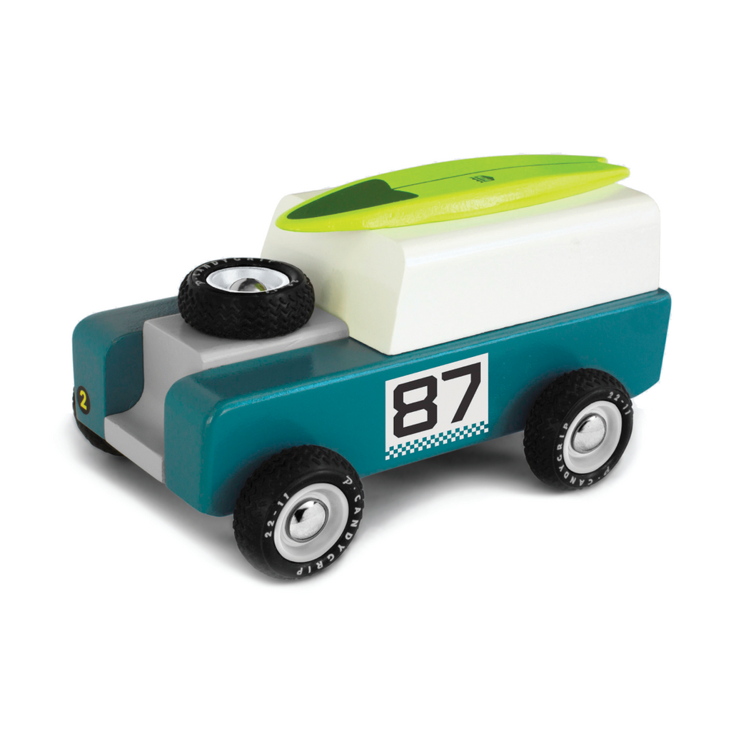 Drifter 87 Jeep with Magnetic Surfboard by Candylab Toys