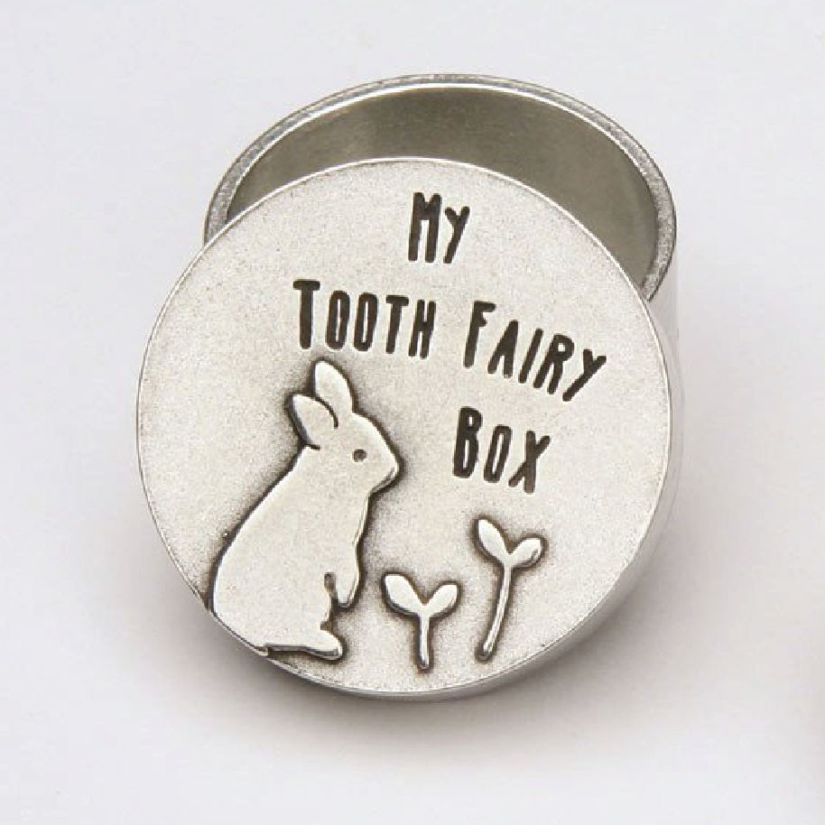 Pewter Tooth Fairy Box - Rabbit