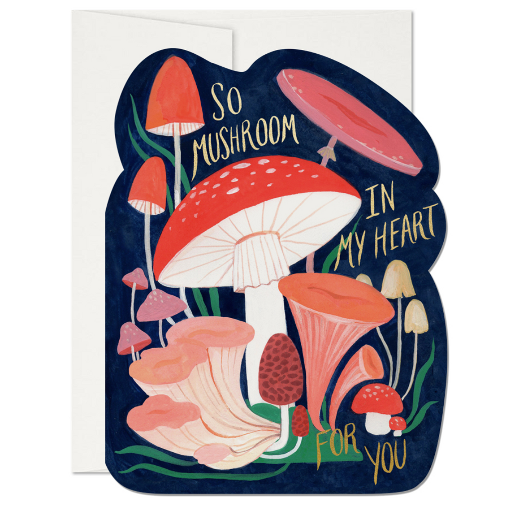 So Mushroom Valentine's Day Card Red Cap Cards Paper Goods