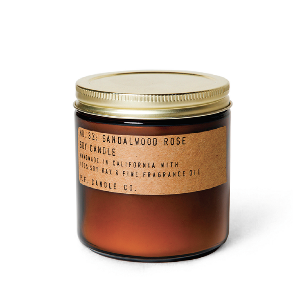 Sandalwood Rose Soy Candle - Large by PF Candle Co