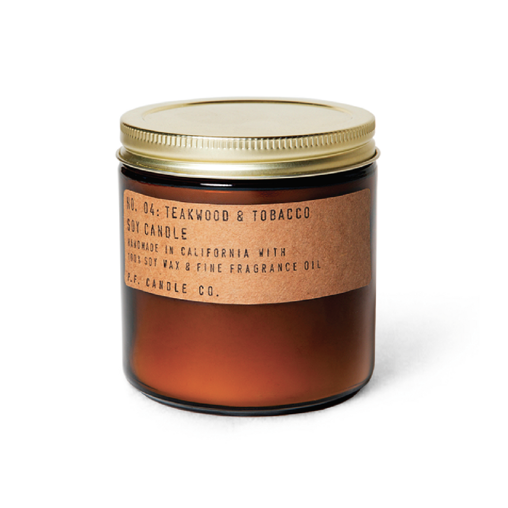 Tobacco + Teak Soy Candle - Large by PF Candle Co