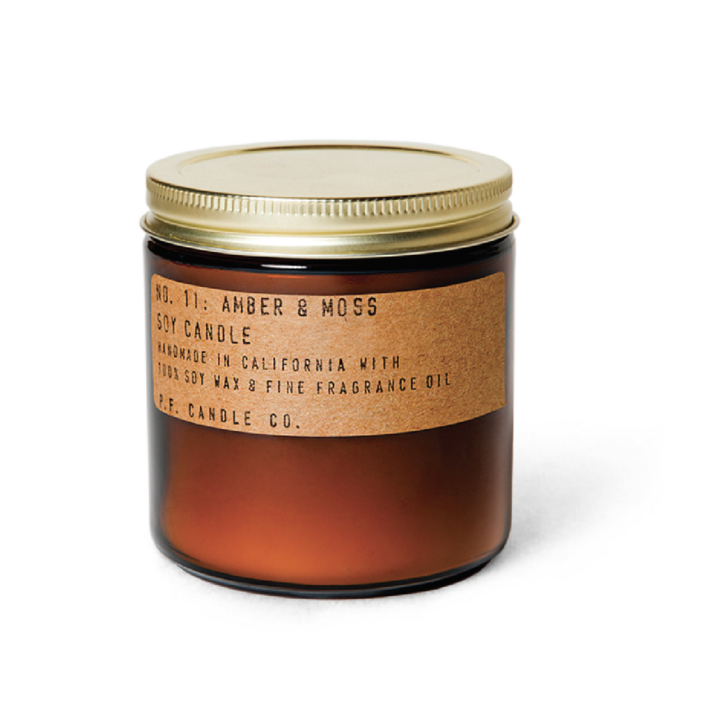 Amber + Moss Soy Candle - Large by PF Candle Co