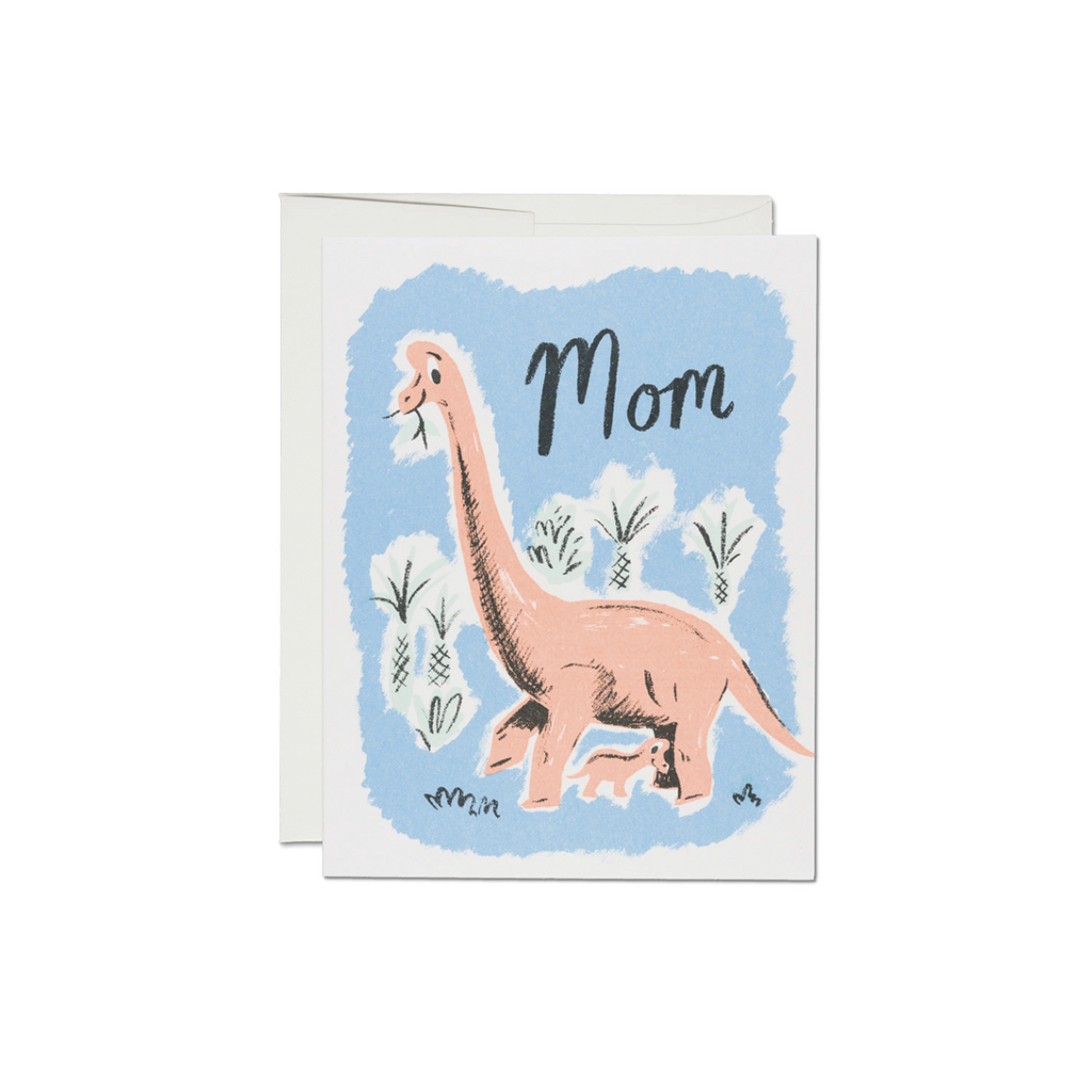 Pink Dinosaur Mom Card