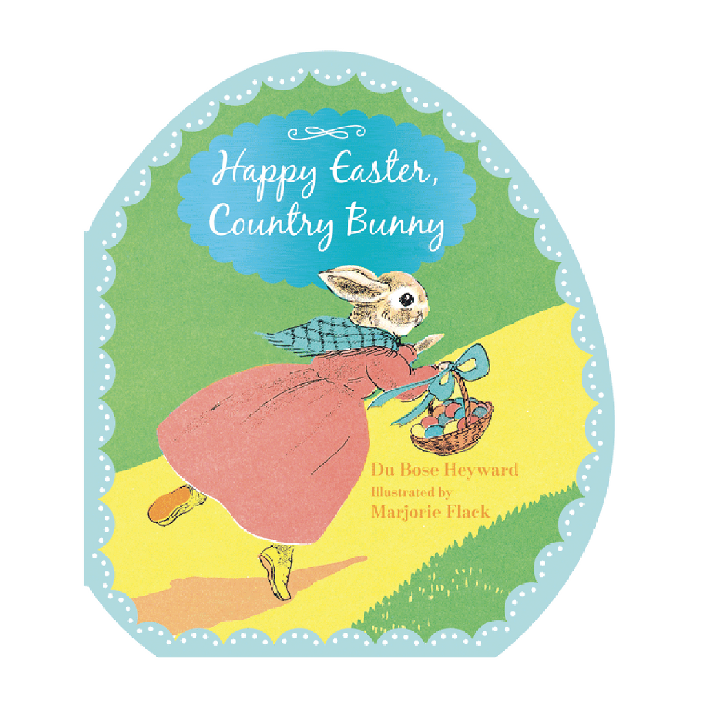 Happy Easter Country Bunny - Shaped Board Book
