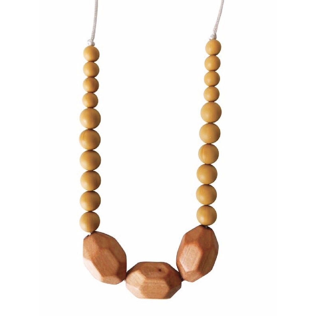 Austin Teething Necklace - Mustard by Chewable Charm