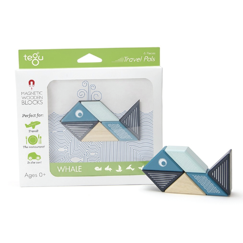 Magnetic Block Set - Whale Travel Pal by Tegu