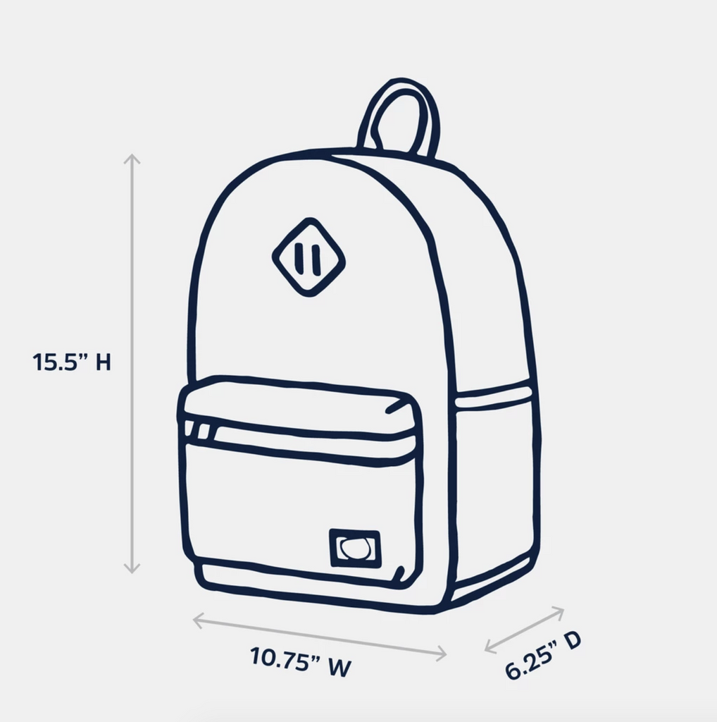 Bayside Youth Backpack - Nebula Electric by Parkland