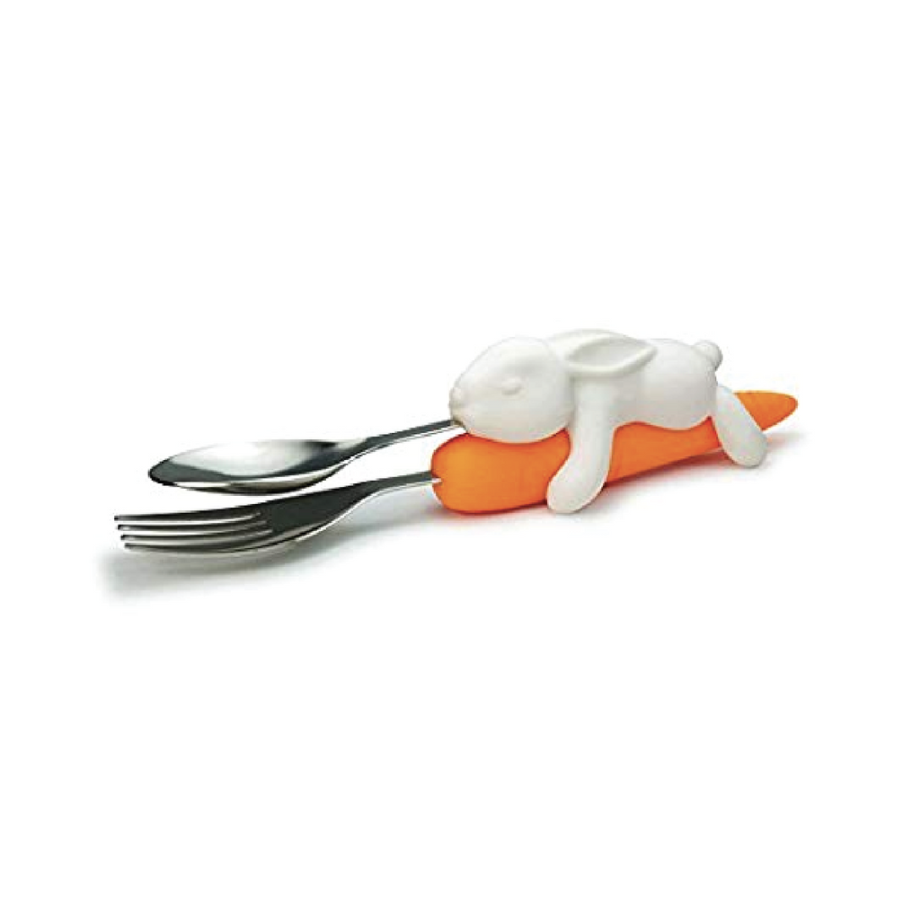 Snack Rabbit Nesting Utensils by Fred + Friends