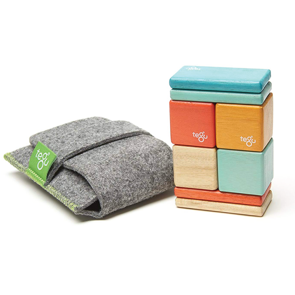 Magnetic Block Set 8 Pc Original Pocket Pouch - Sunset by Tegu