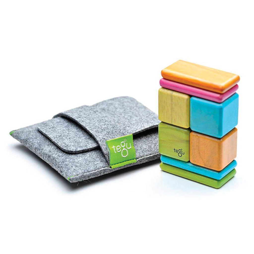 Magnetic Block Set 8 Pc Original Pocket Pouch - Tints by Tegu Tegu Toys