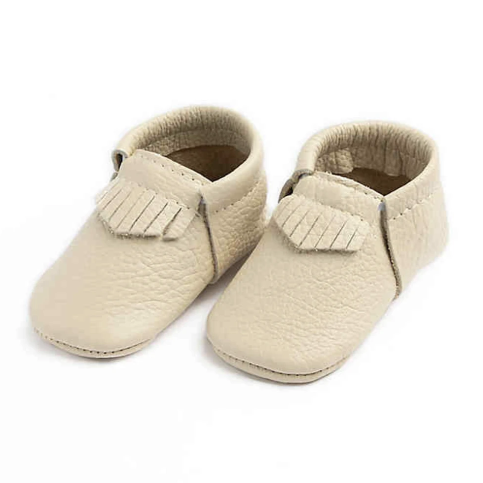 First Pair Moccasin - Cream by Freshly Picked