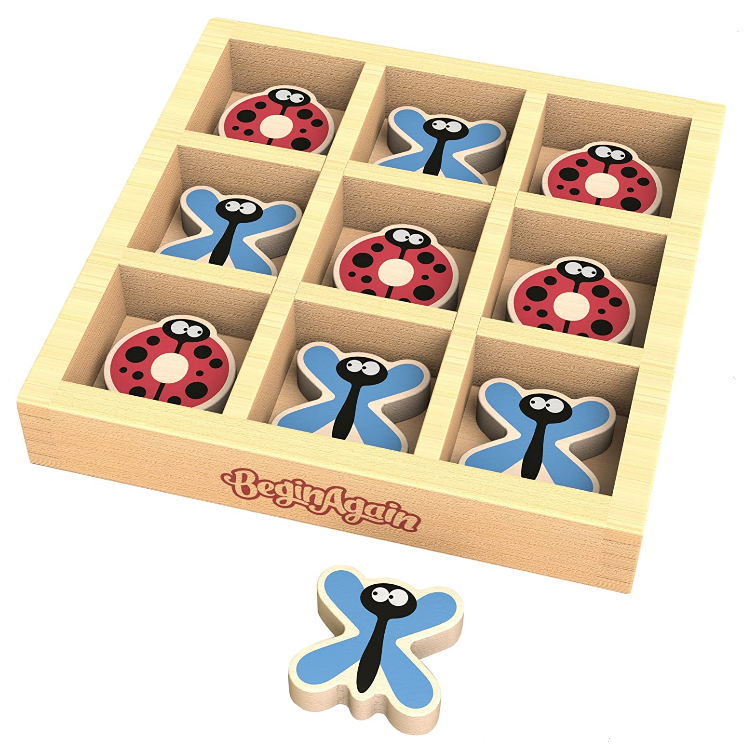 Tic-Bug-Toe Wooden Travel Game by Begin Again