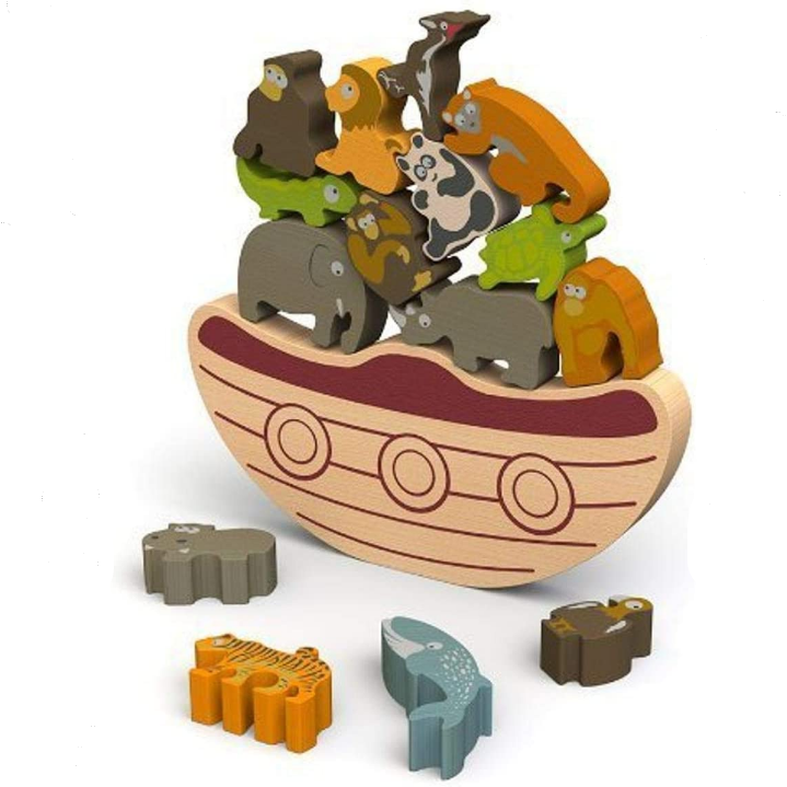 Balance Boat Endangered Animals Wooden Game by Begin Again