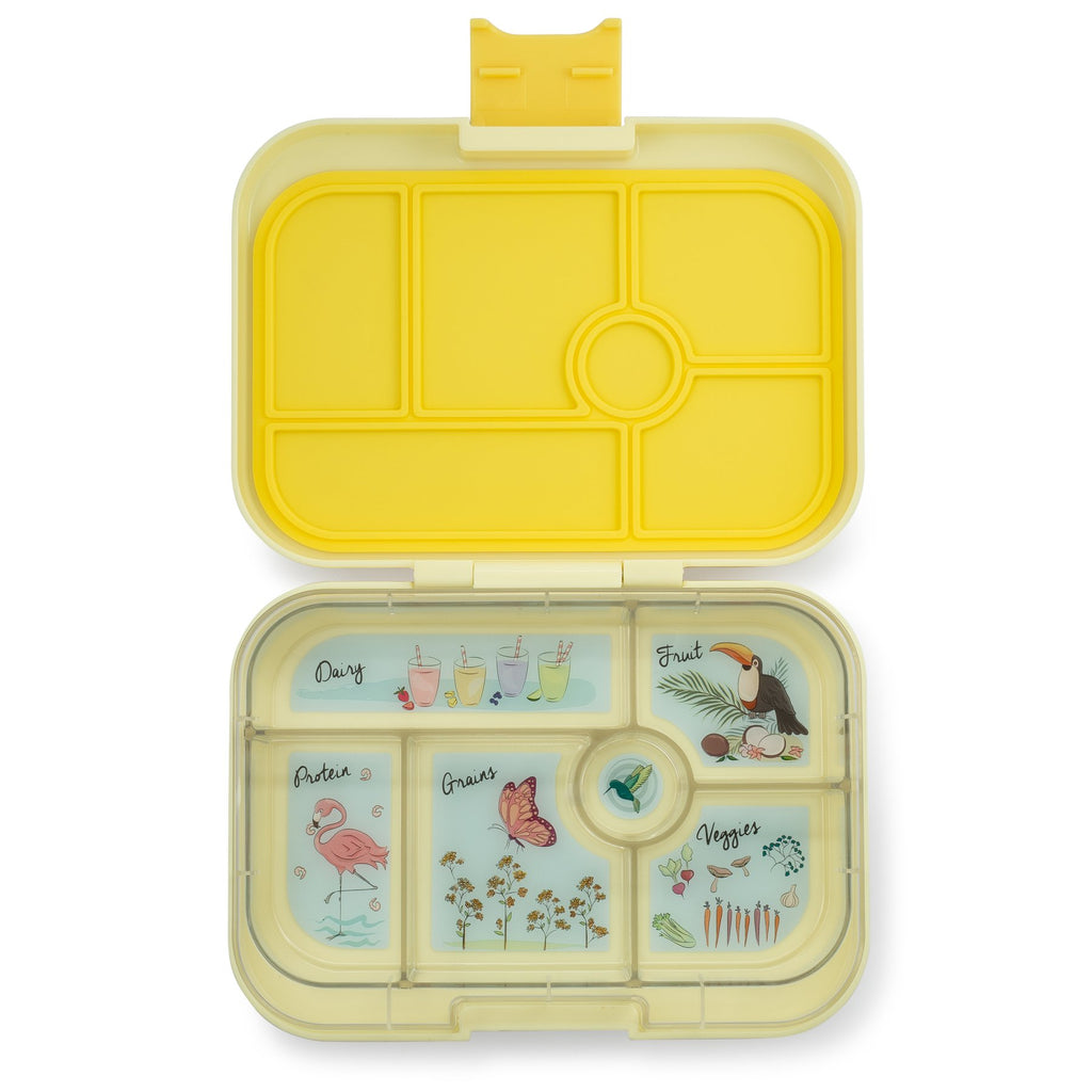 Yumbox Leakproof Bento Box - 6 Compartment - Sunburst Yellow