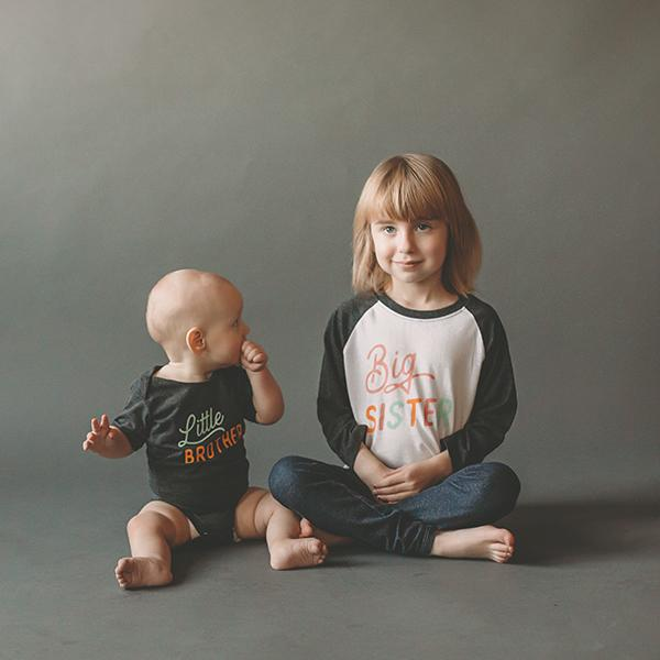 Cotton Raglan Tee - Big Sister Sweetpea + Co Apparel