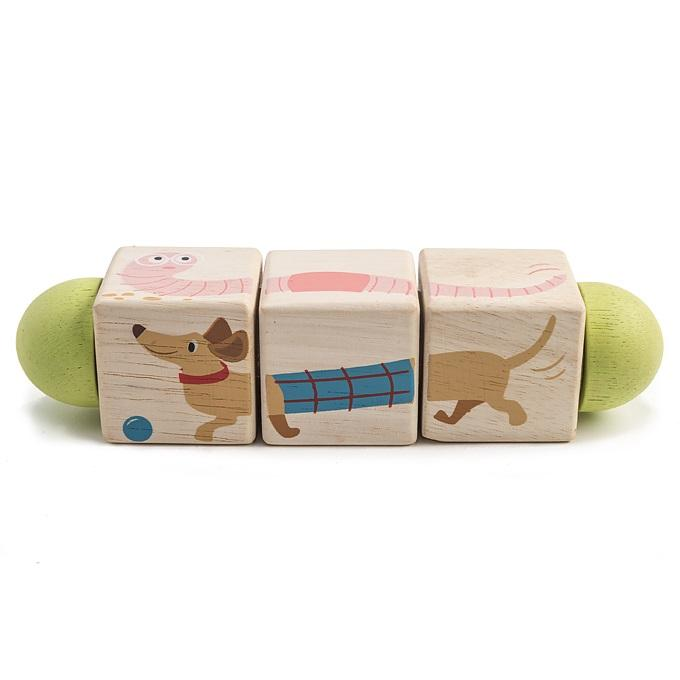 Twisting Cubes Wooden Matching Toy