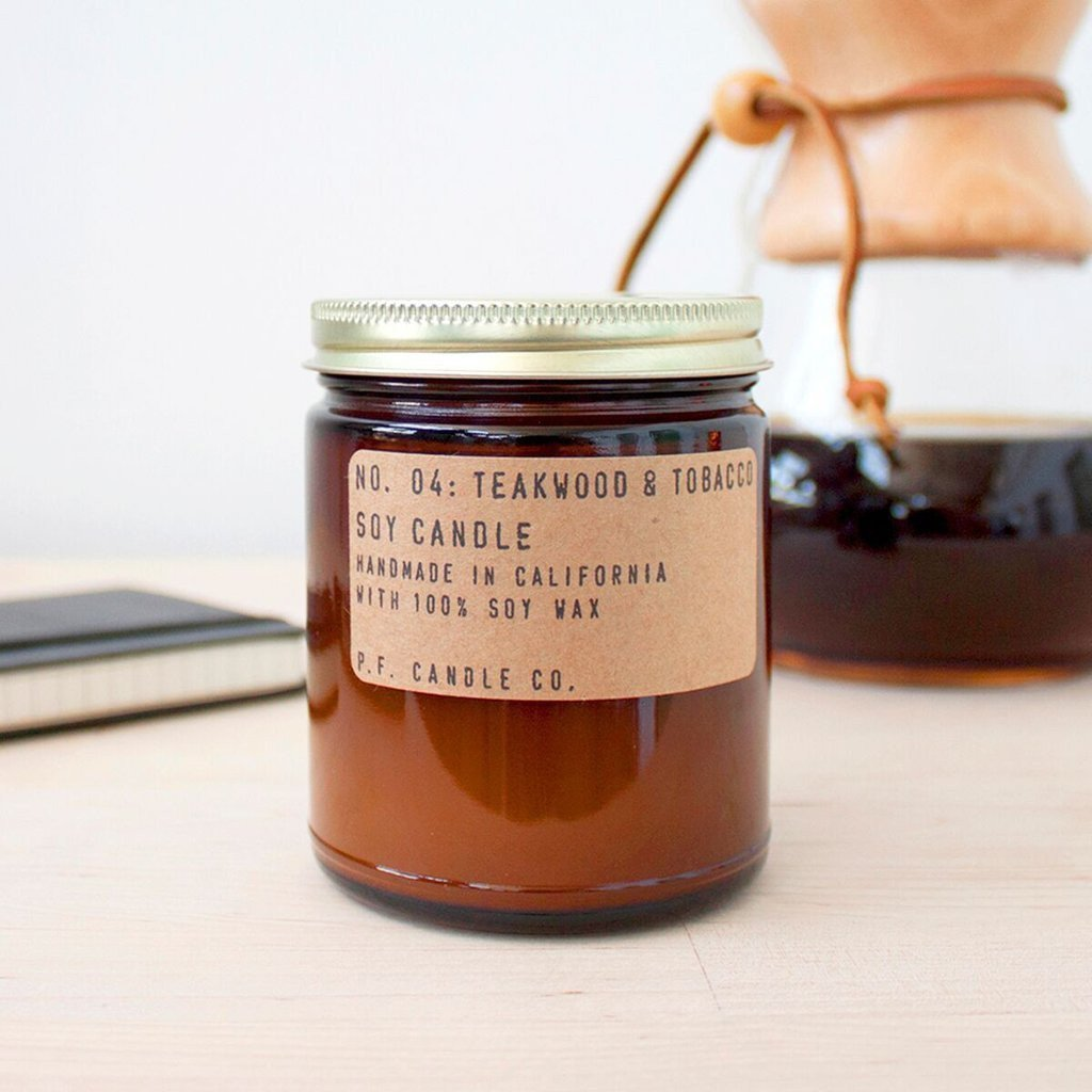 Teakwood + Tobacco Soy Candle - Standard by PF Candle Co