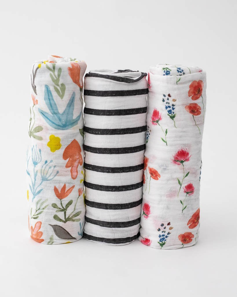 Cotton Muslin Swaddle 3-Pack - Wild Mum by Little Unicorn