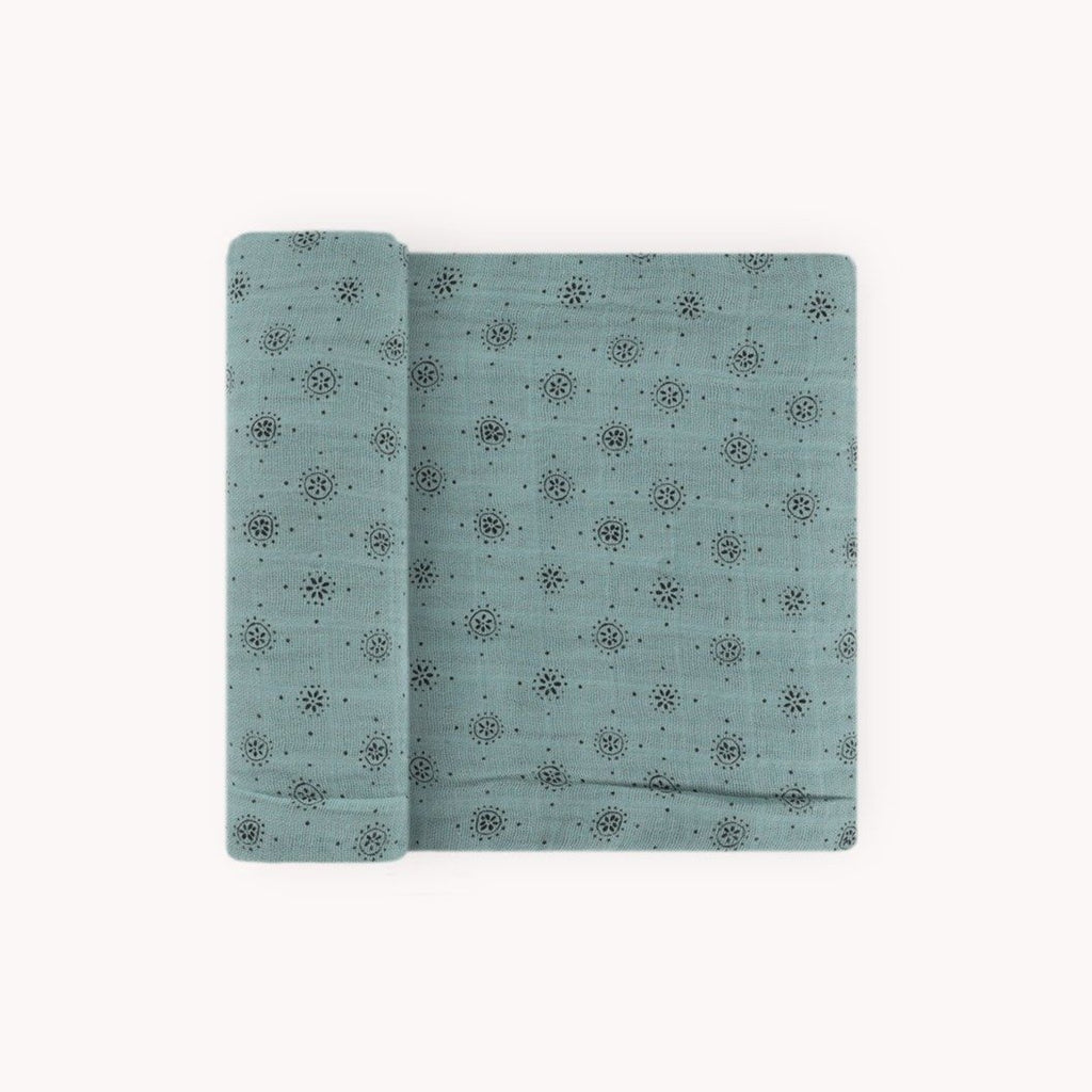Cotton Muslin Single Swaddle - Wallflower by Little Unicorn