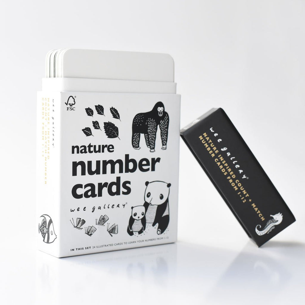 Nature Number Cards by Wee Gallery
