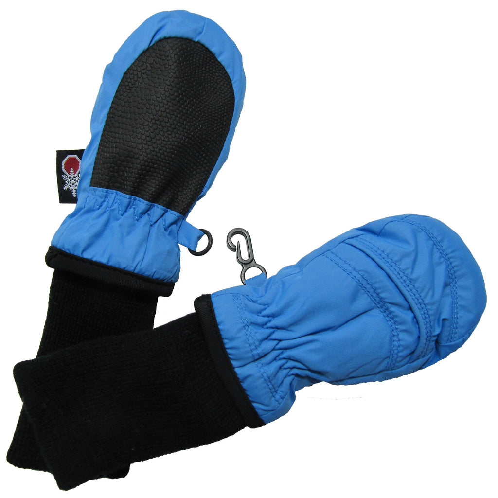 Waterproof Stay-On Mittens No Thumb - Sky Blue by SnowStoppers