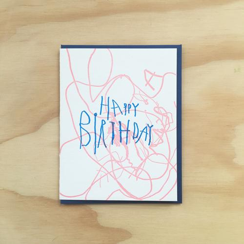 Scribbles Card by Bench Pressed Bench Pressed Paper Goods