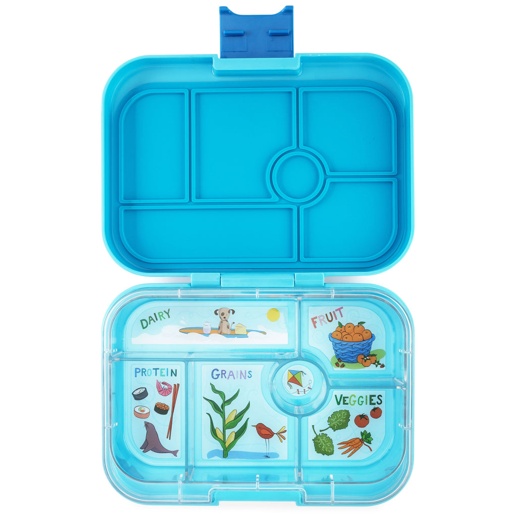 Yumbox Leakproof Bento Box - 6 Compartment - Blue Fish