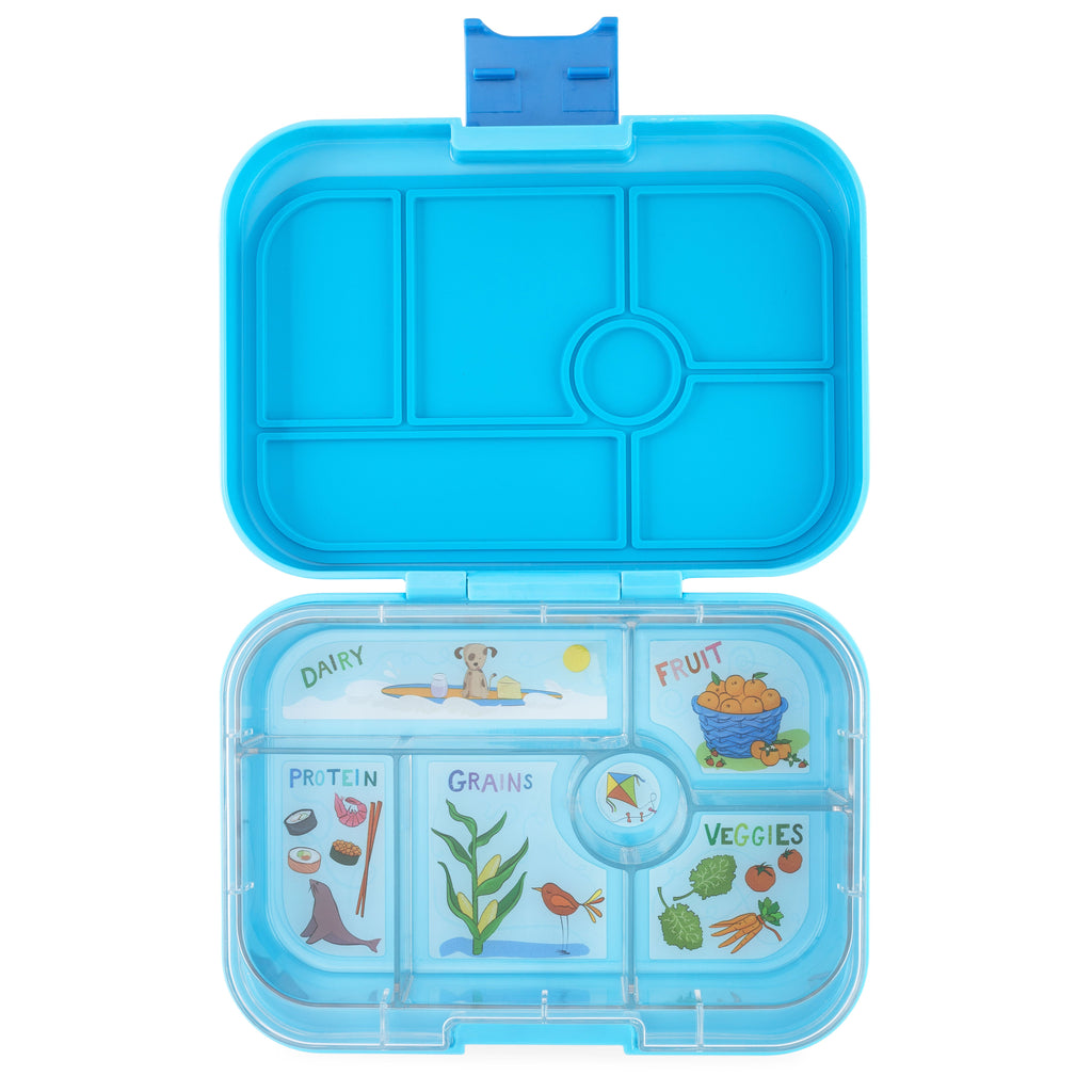 Yumbox Leakproof Bento Box - 6 Compartment - Luna Blue YumBox Nursing + Feeding