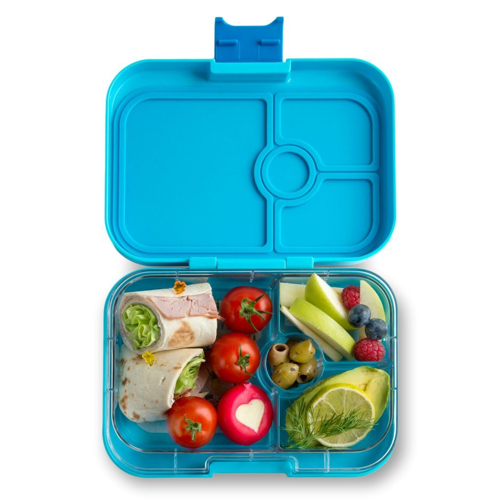 Yumbox Panino Leakprook Bento Box - 4 Compartment - Blue Fish