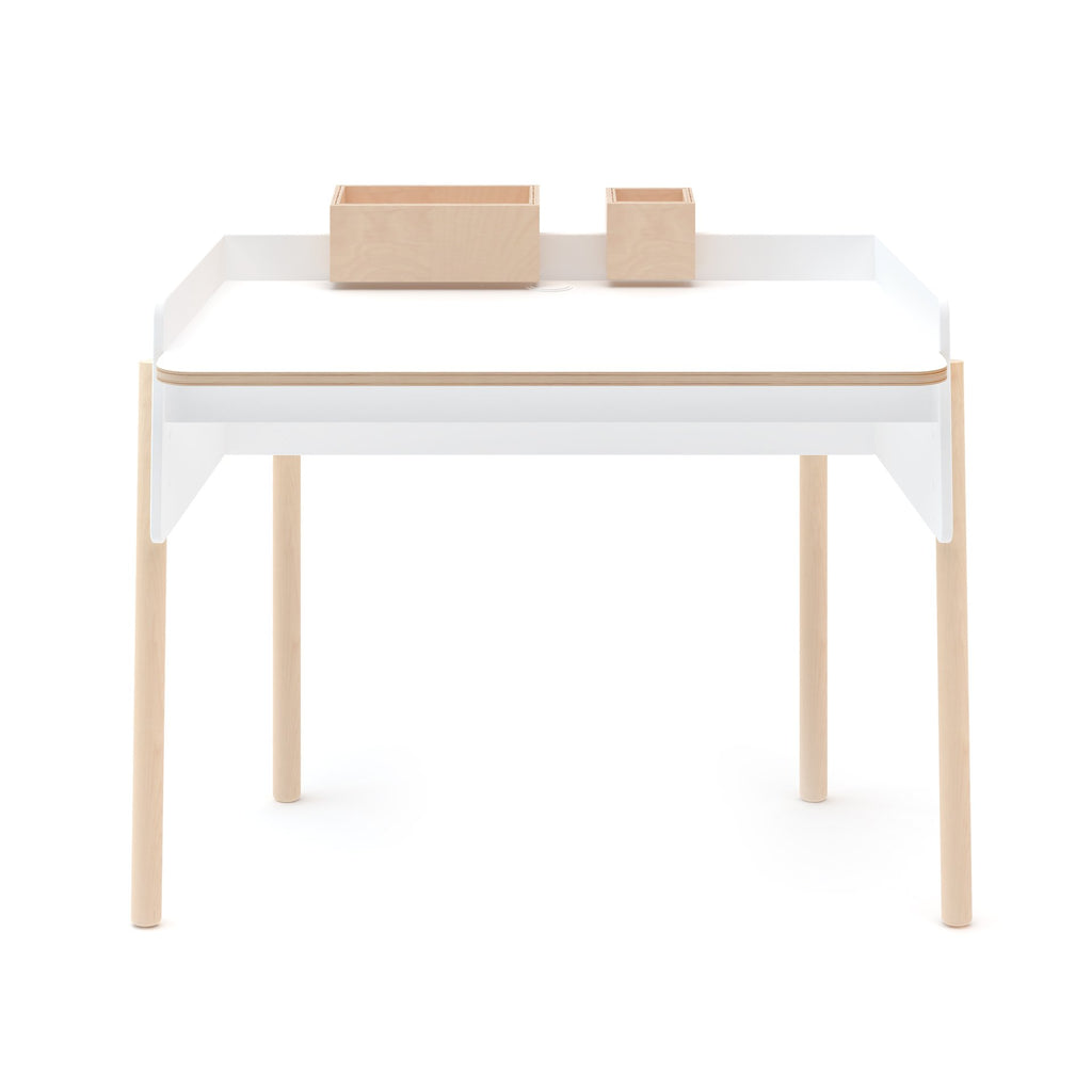 Brooklyn Desk - Birch / White by Oeuf Oeuf Furniture