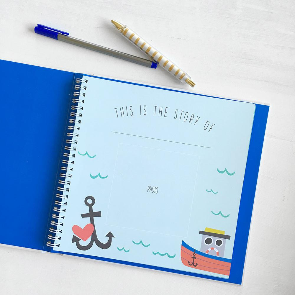 Little Captain Memory Book by Lucy Darling - Pacifier