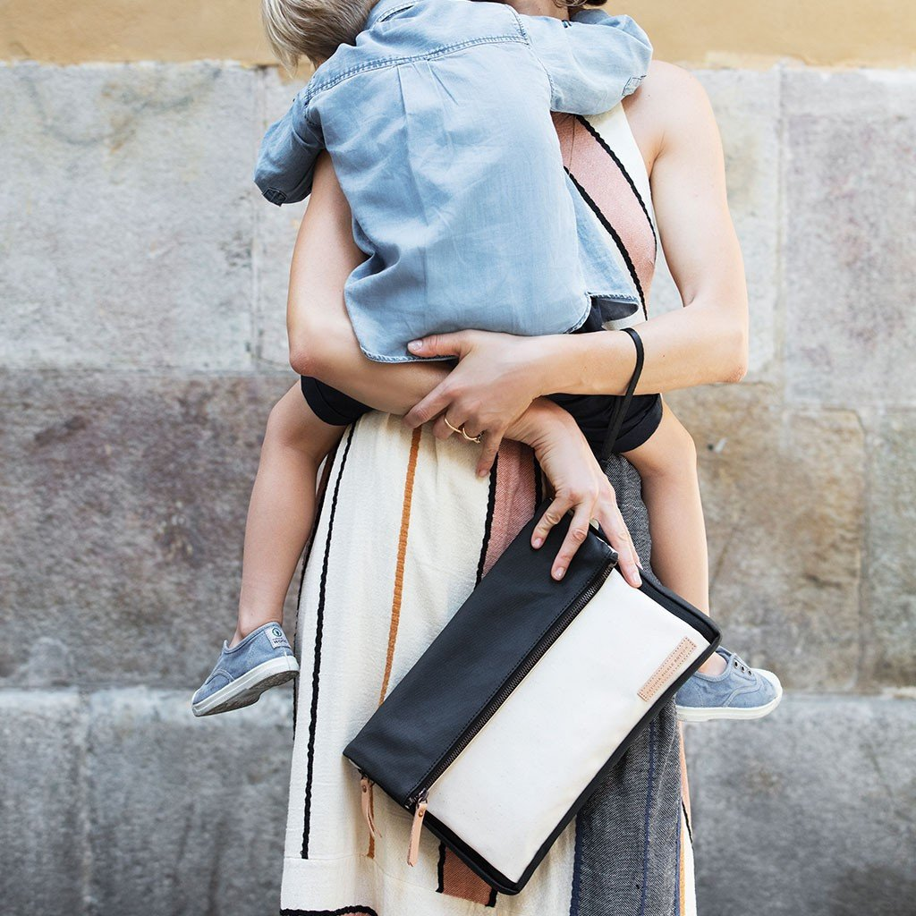 Crossover Clutch - Birch + Black by Petunia Pickle Bottom - Pacifier
