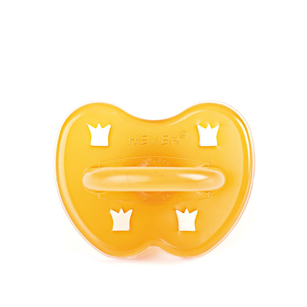 Crown Round Natural Rubber Pacifier by Hevea Hevea Infant Care