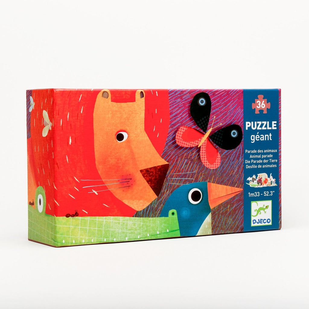 36 Piece Giant Floor Puzzle - Animal Parade by Djeco