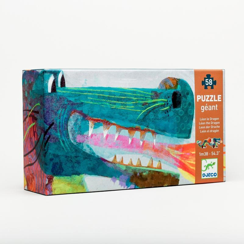 58 Piece Giant Floor Puzzle - Leon the Dragon by Djeco