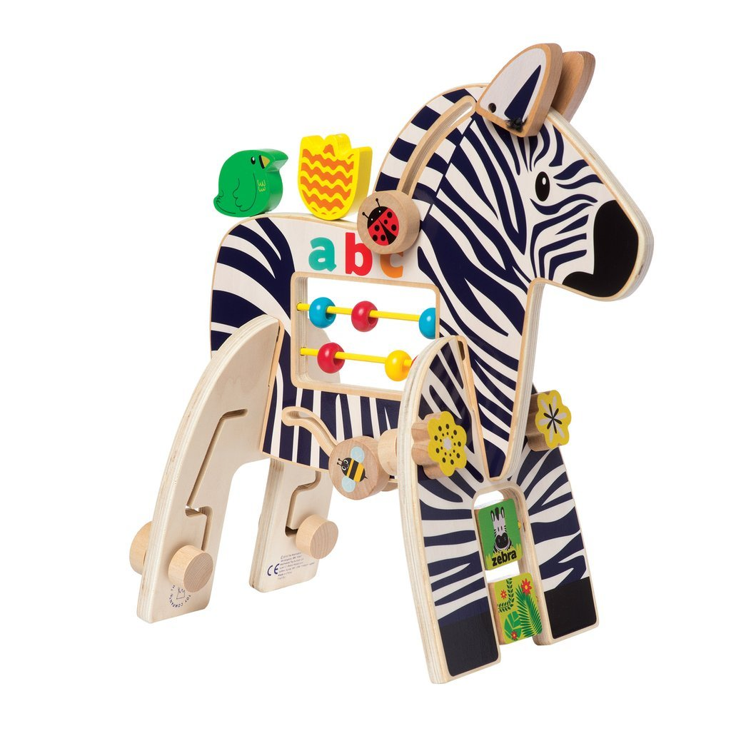 Safari Zebra Activity Toy by Manhattan Toy